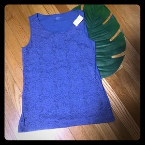 Loft lace tank top shell work professional